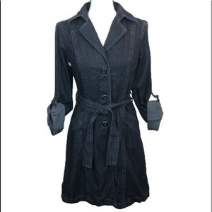 Vtg! Converse Jean Dress Trench Coat Style!